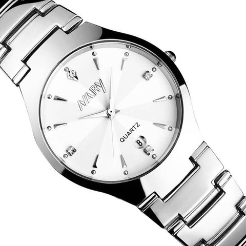 Luxury Men Single Calendar Quartz Stainless Steel Date Wrist Watch - LUNAP Co