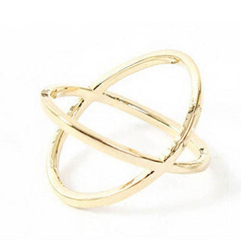 Cross Three-Dimensional Hollow Around Women's X Cross Alloy Ring - LUNAP Co