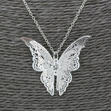 Women Lovely Butterfly Pendant Chain Necklace Jewelry Hollow Butterfly Necklace - LUNAP Co