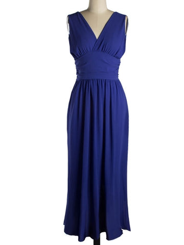 Backless Chiffon Women's Maxi Dress - LUNAP Co