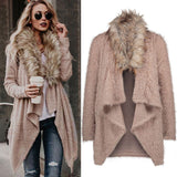 Women's Knit Long Sleeve Cardigan Sweaters Parka Outerwear Coat - LUNAP Co
