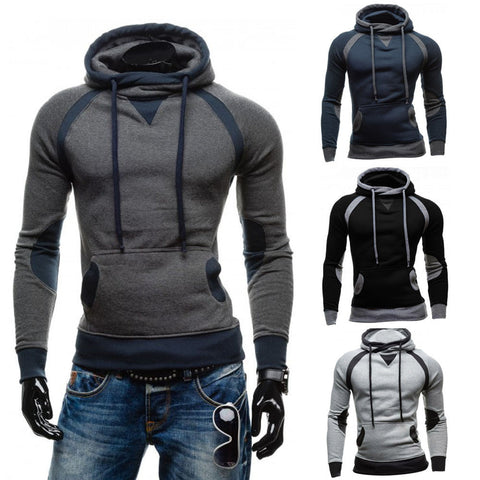 Men's Winter Slim Hoodie Warm Pullover Sweatshirt Hooded Coat Outerwear - LUNAP Co