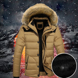 Men's Outdoor Warm Winter Thick Jacket Plus Fur Hooded Coat Jacket - LUNAP Co