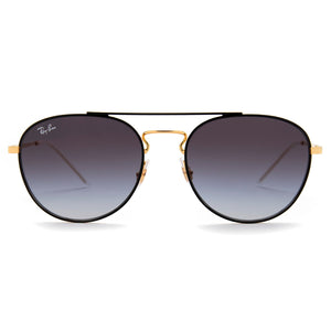 Ray-Ban RB3589 Square Sunglasses 58 mm Black and Gold Frame