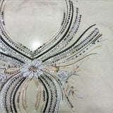 1piece Beaded Rhinestones Neckline Collar Embroidery Applique Cord Crystal Patches Sew on Clothes Scrapbooking HB131