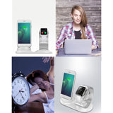 2 in 1 desk phone holder Charging dock station for Apple Watch charger base for iPhone stand table charge phone mobile support