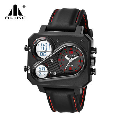2018 Alike Top Brand Men's Wrist Watches LED Digital Display Men Army Military Style Shock Watches Sports Date Hours Clock Saat