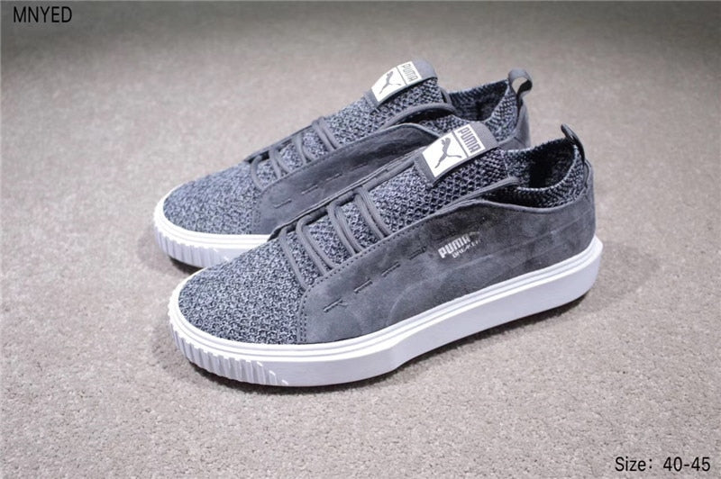 in stock nice shoes get cheap 2018 PUMA Breaker Knit Sunfaded Mens Black Suede Lace up Women's Sneakers  Shoes badminton shoes size 36-44