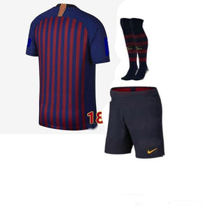 2018 boy child kids kit Barcelona shirts 2019 Barcelonaes kids kit football shirt soccer jersey COUTINHO A. INIESTA SUAREZ MESSI
