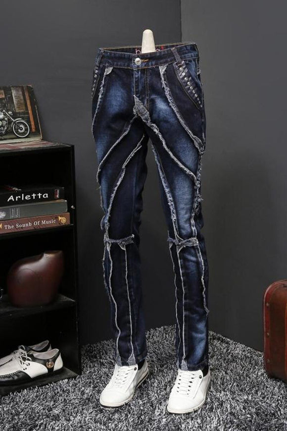 2019 Autumn Jeans Male Personality Self-cultivation Directly Canister Long Pants Tide Brand Designer Jeans Erkek Jean Pantolon