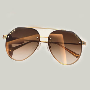 2019 Fashion Vintage Pilot Sunglasses Women Sun Glasses Metal Frame Male Female Driving Shades oculos glasses Free Air Post