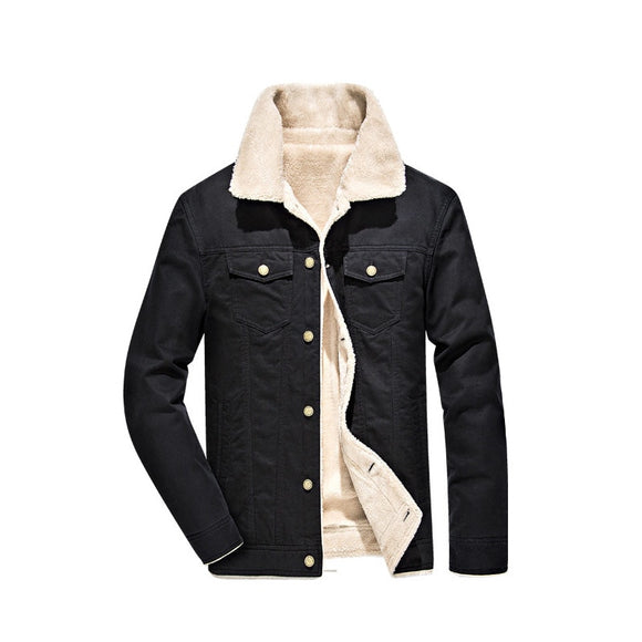 2019 High Quality Men Casual 100% Cotton Winter Fleece Outwear Thick Men Jacket Coat Size M-4XL
