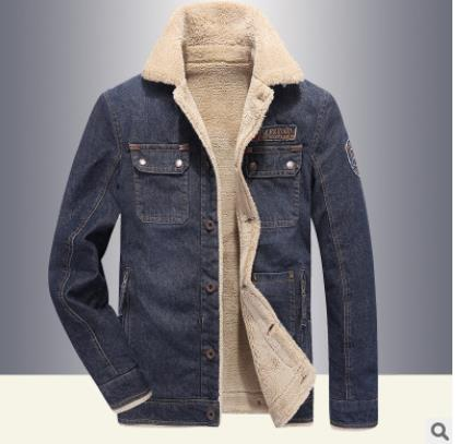 2019 New Fleece Thicken Winter Jacket Men Plus Size M-4XL Casual Denim Spring Coat For Men Moto Coats Brand Men's Clothing
