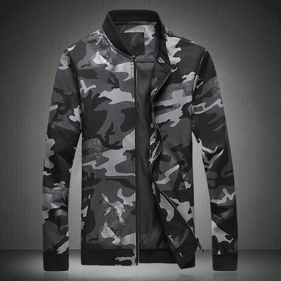 2019 New Spring Fashion Jacket Men Plus Size M-5XL Slim Fit Mens Jackets And Coats Camouflage Casual Bomber Jacket Men