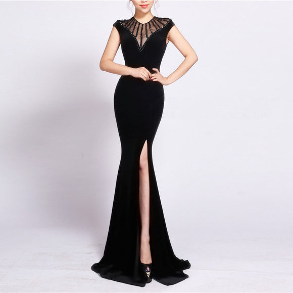 2019 New Women Dresses Mermaid Split Slim Lace Bodycon Wedding Elegant Bohemian Party Club Sexy Palace Spring Long Maxi Dress