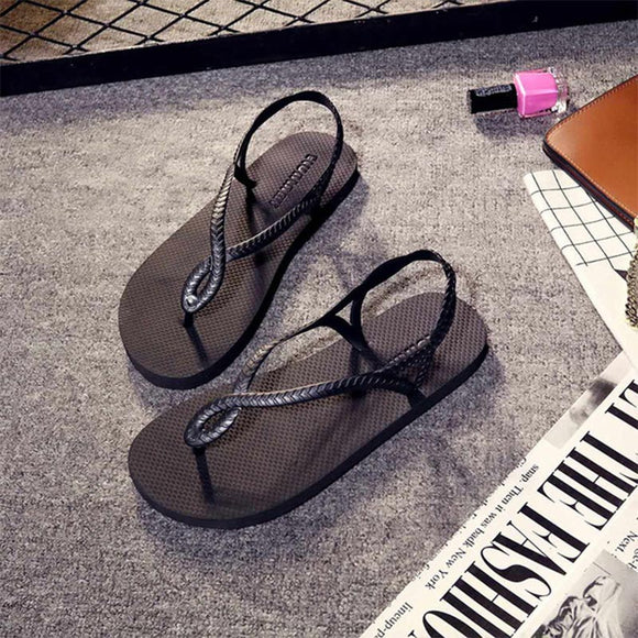 2019 Women Summer Sandals Buckle Flat Shoes Female Ankle Strap Simple Cross Tied High Quality PU Comfortable Ladies Casual Shoes