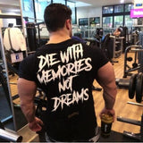 2019 summer New mens gyms T shirt Fitness Bodybuilding Shirts Printed Fashion Male Short cotton clothing Brand Tee Tops
