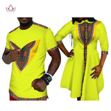 2019 summer Promotion party Dresses short Womens africa Clothing Mens Shirt Family Clothes Matching Couple print Fabric BRWYQ20