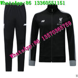 2019PSG Chelsea Liverpool Madrid Arsenal Soccer Jacket Training Suit Long Zipper Football Tracksuit Tottenham Training suit