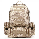 50L Outdoor Sports Rucksack Backpack Camping Hiking Camouflage Shoulder Bag Army Green