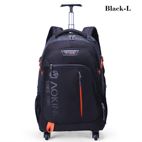 5d185cca9 Aoking High Quality Waterproof Travel Trolley Backpack Luggage Wheeled  Carry-ons Bags Large Capacity Trolley