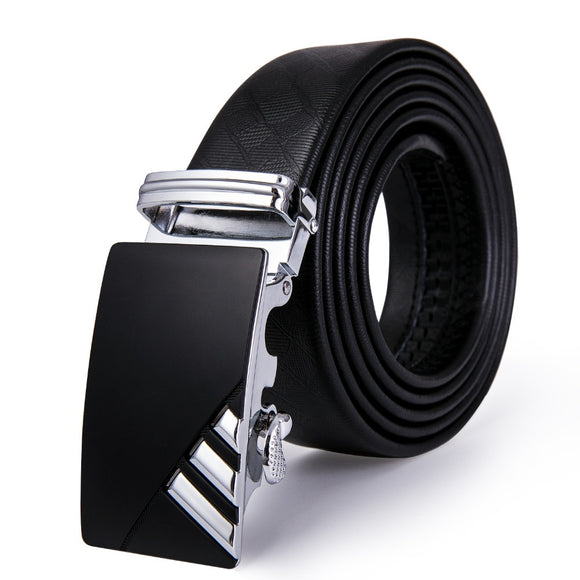 Aolly Automatic Buckle Belts 3.5cm luxury Leather Belts Male Buckle Belts For Men Gifts Barry.Wang Fashion 110cm-160cm Long Belt