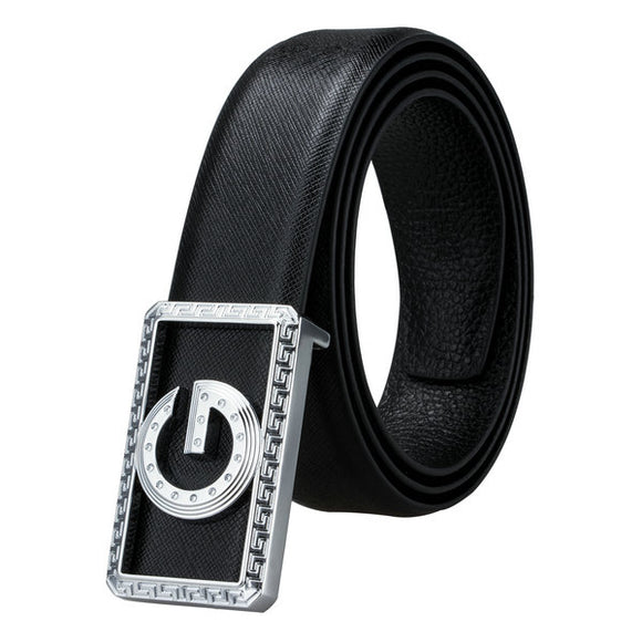 BBK-0002 2018 Barry.Wang Fashion Designers Metal Buckle Genuine Leather luxury Mens Belts Male Alloy Buckle Belts for Business