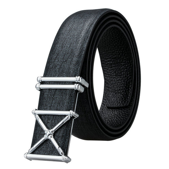 BBK-0004 2018 Barry.Wang Genuine Leather luxury Metal Buckle Belts Male Alloy Buckle Belts for Men's Business Party Wedding