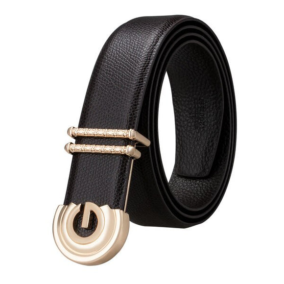 BBK-0010 2018 Barry.Wang New Genuine Leather luxury Metal Buckle Mens Belts Alloy Buckle Belts For Men's Business Party Wedding