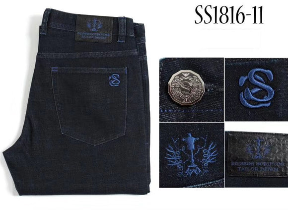 BILLIONAIRE TACE&SHARK jeans men 2018 launching comfort casual embroidery snake leather gentleman various size free shipping