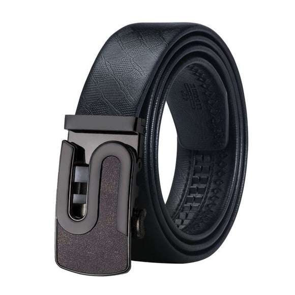 BK-0084 2018 Barry.Wang Fashion Designers Automatic Buckle Leather luxury Belts Male Alloy Buckle Belts for Men's Business Party