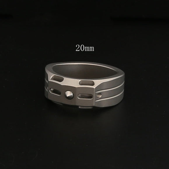EDC Titanium Alloy Ring with Tungsten Steel Head with Tritium Gas Tubes with DIY Paracord Pendant Decorations EDC Tools