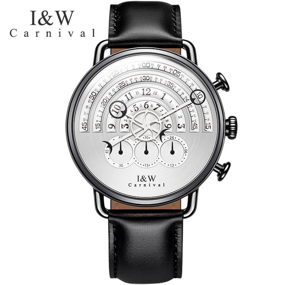 CARNIVAL Men Watch Relogio Masculino Top Brand Luxury Leather Military Watch Clock Men Quartz Watches Relojes Hombre 2017 New