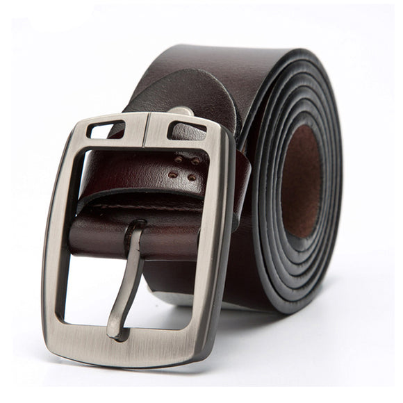 CATELLE Men's belt leather belts for men high quality Casual pin buckle belt male genuine