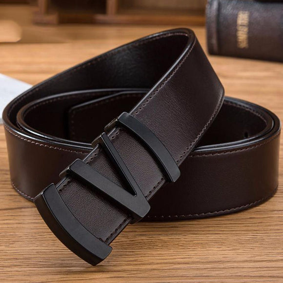 CUKUP Brand Name 100% Cowhide Belt for Men Male Letter Slide Buckle Men's Luxury Top Quality Cowskin Leather Belts 2018 NCK642