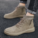 CYYTL special offer genuine leather men shoes soft ankle Martin safety sneakers high-top winter British style Botas Masculina Hombre