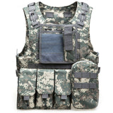 Camouflage Tactical Vest CS Army Military Tactical Vest Wargame Body Molle Armor Outdoors Equipment 6 Colors 600D nylon