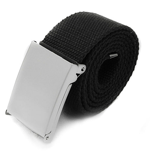 Candy Colors Men Women Boys Plain Webbing Cotton Canvas Metal Buckle Belt Fashion Accessories