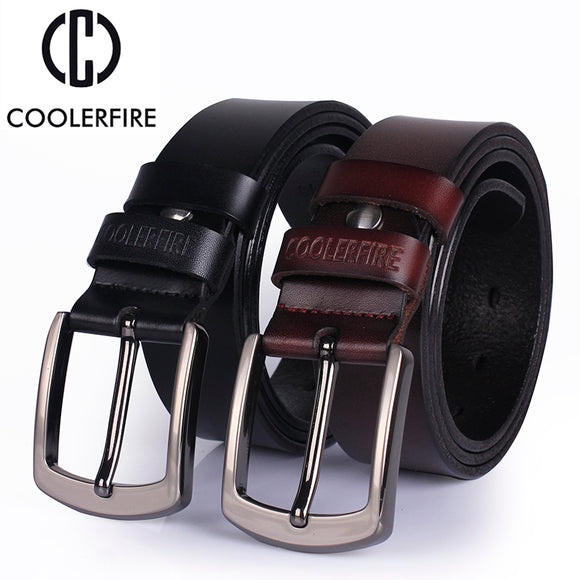 Ccoolerfire High qualit genuine leather belt 2017 new luxury designer men belts cowskin