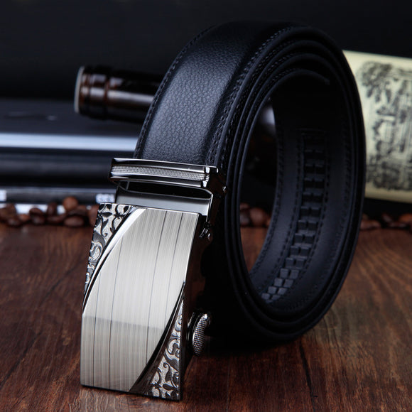 Classical Automatic Belt Buckle Leather Belts Mens Waist Strap Belts male cowhide for men