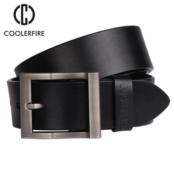 Coolerfire men's genuine leather belt designer belts men luxury strap male belts for men