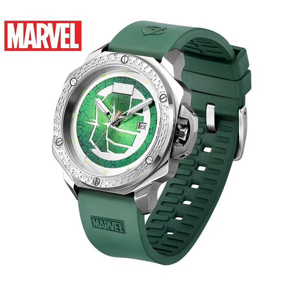 Disney Official authorization original Marve AVENGERS HULK QUARTZ watch Waterproof Male stainless Steel Luxury GREEN M-9059 NEW