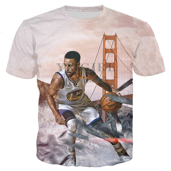 Dropshipping Basket ball Superstar Stephen Curry 3d Print T shirt for Men Boy Summer T-shirt Male Casual Tees High Quality Tops