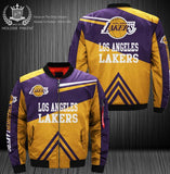 Dropshipping USA Size Men's 3D Jacket Los Angeles Lakers printing Cowboys Bomber Jacket Coat Costume Made 3D Flight MA-1 jacket