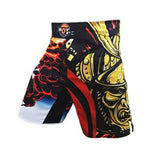 Elastic MMA Shorts Men Boxing Trunks Warrior Sports Fitness Angle Pants Tiger Muay Thai Training Shorts Kickboxing Boxeo Shorts