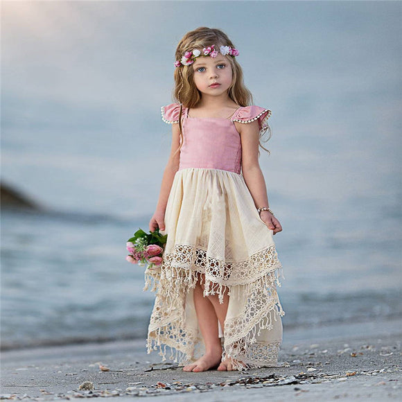 Emmababy Leisure Sleeveless Tutu Dresses for Toddler Infant Baby Girls Party Princess Wedding Lace Fashion Hot Sale Girl Dresses