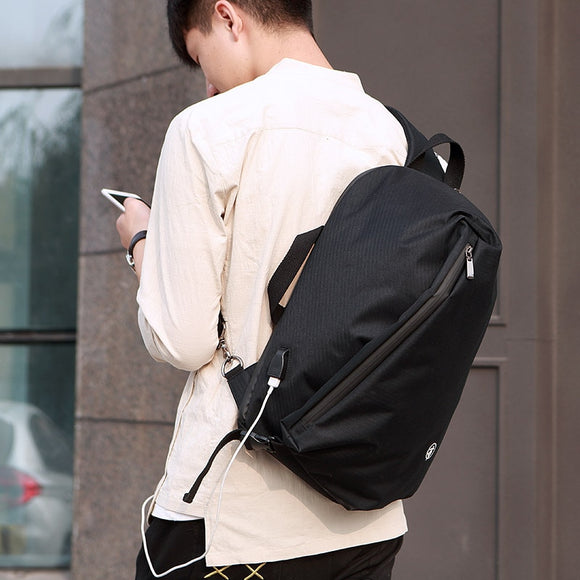 FEGER chest bag Men's Backpack  male School Bag For Teenagers  Laptop Backpacks Men Travel Bags Large Capacity USB charge port