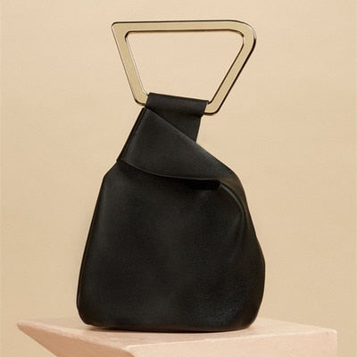 Fashion Acrylic Handle Women's Handbags Designer Brand Female Totes Luxury Pu Lady Hand Bags Summer Irregular Bucket Bags Purses