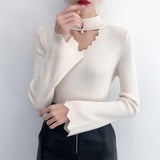 Fashion Sweaters For Women 2019 Harajuku Cute Sweet Hollow Out Sweaters Butterfly Sleeve Knited Sweater Female #1023