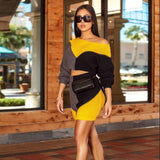 Feditch Sexy Knitted Two Piece Set Atumun Winter Warm Sexy Top And Short Pants Sexy Long Sleeve Bodycon 2 Piece Set Outfit